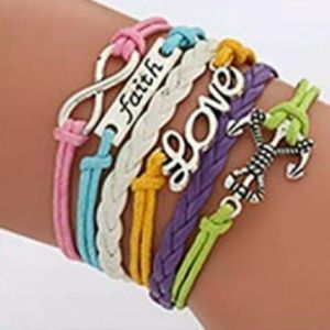 Jewelry - BRAND NEW RAINBOW COLORS MULTI LAYER BRACELET